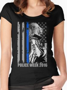 police week 2016 Women's Fitted Scoop T-Shirt