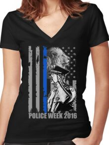 police week 2016 Women's Fitted V-Neck T-Shirt