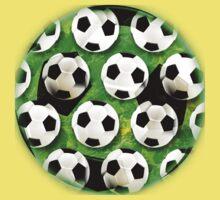 Soccer Ball Football Pattern Baby Tee