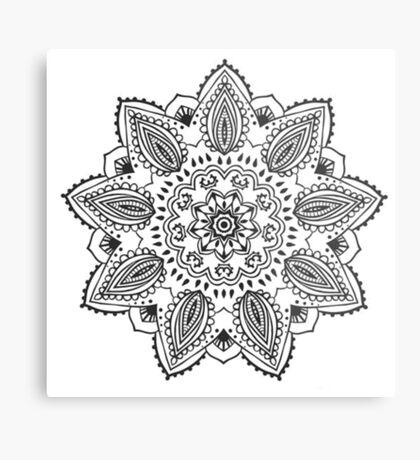 Yoni Flower Metal Print