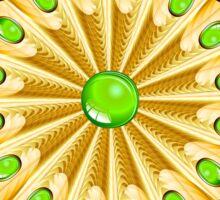Mandala Gold and Emeralds Sticker