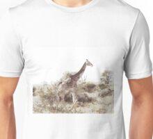 Giraffe in his element Unisex T-Shirt