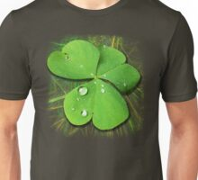 Shamrocks with Dew Drops Pattern Unisex T-Shirt
