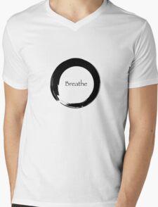 Breathe Symbol of Zen Mens V-Neck T-Shirt