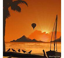 Tahiti Island Balloon Rides Photographic Print