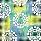 Circles - Lime & Blue by Lisa Vollrath