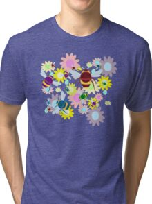 Bees & Flowers Tri-blend T-Shirt