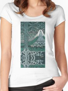 Water girl - acrylic on board Women's Fitted Scoop T-Shirt