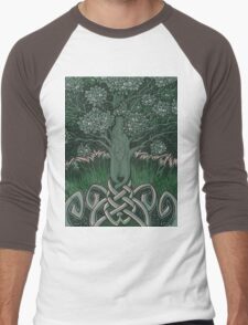 Tree of cognizance - acrylic on board Men's Baseball ¾ T-Shirt
