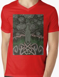 Tree of cognizance - acrylic on board Mens V-Neck T-Shirt