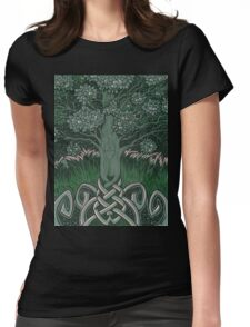 Tree of cognizance - acrylic on board Womens Fitted T-Shirt