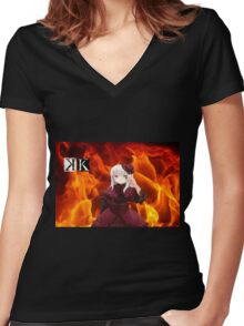 Anna Fire Women's Fitted V-Neck T-Shirt