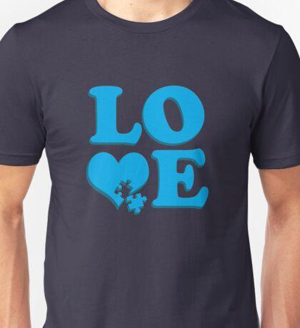 Love Puzzle Heart - Autism Awareness T-Shirts Unisex T-Shirt