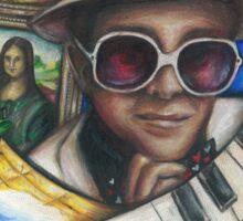 Elton John Piano Man Art Sticker