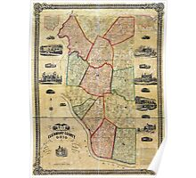 Map of Clermont County Ohio (1857) Poster