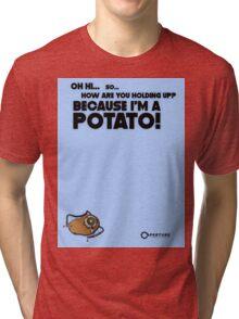 "Portal 2 Funny Clothing ""I'm a potato"" Tri-blend T-Shirt"