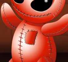 Voodoo Doll Evil Devil Cartoon Sticker