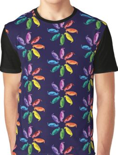 Color: Emperor Penguin Rainbow Pinwheel Graphic T-Shirt