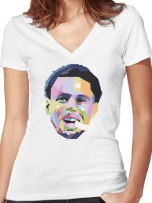 Steph Curry ART Women's Fitted V-Neck T-Shirt