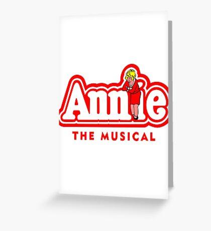 Annie the Musical Greeting Card