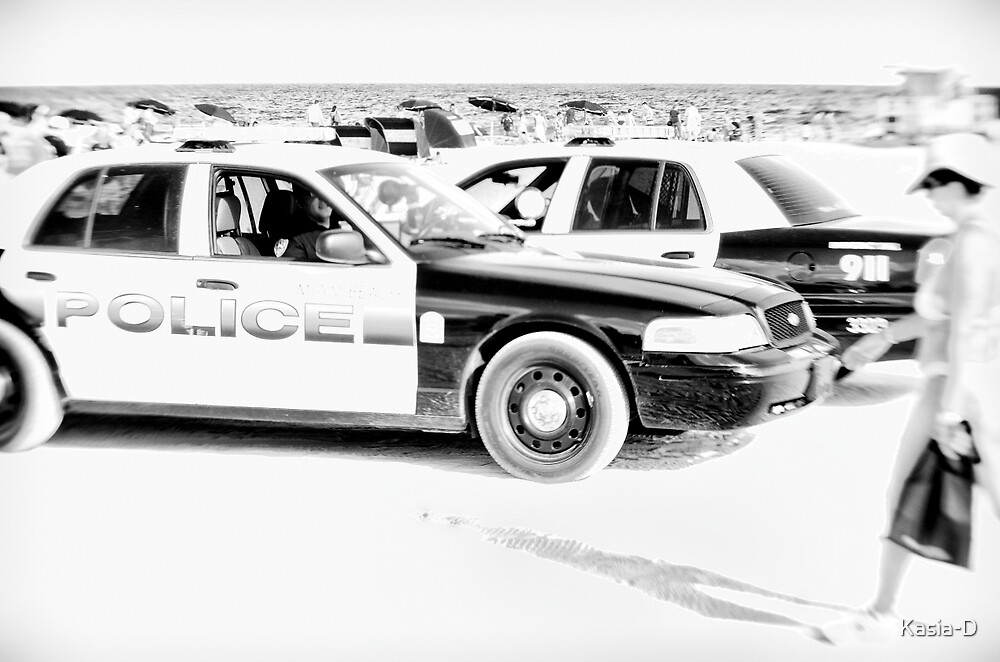 Policing Miami Beach by Kasia-D