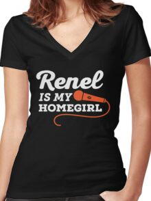 Renel Is My Homegirl Women's Fitted V-Neck T-Shirt