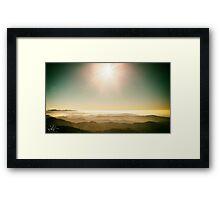 Autumn morning on a mount of italian alps Framed Print