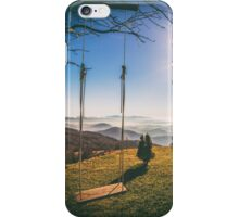 swing in the mountains iPhone Case/Skin