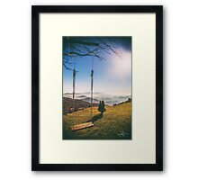 swing in the mountains Framed Print