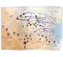 Operation Desert Storm Ground Map (Feb 24-28 1991) Poster