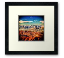 italian mountains in the winter Framed Print