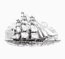 Ship at Sea Kids Tee
