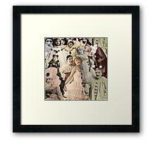 Pierrot Collage Framed Print