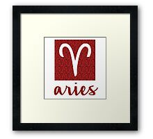 Aries Sparkly Star Sign Framed Print