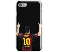 Messi after GOAL!! iPhone Case/Skin