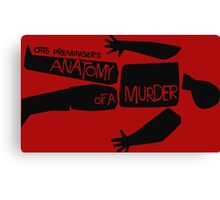 otto preminger's anatomy of a murder Canvas Print