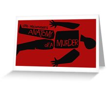 otto preminger's anatomy of a murder Greeting Card