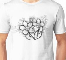 BW Flowers Unisex T-Shirt