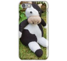 Hand Knitted Cow iPhone Case/Skin