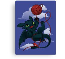 Dragons just wanna get fun - day version Canvas Print