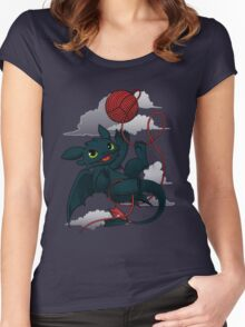 Dragons just wanna get fun - day version Women's Fitted Scoop T-Shirt