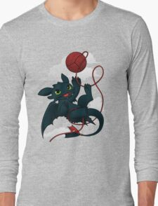 Dragons just wanna get fun - day version Long Sleeve T-Shirt