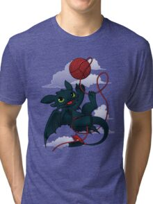 Dragons just wanna get fun - day version Tri-blend T-Shirt