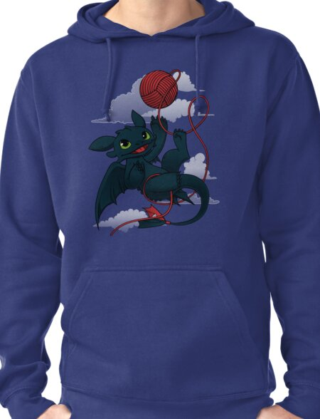 Dragons just wanna get fun - day version Pullover Hoodie