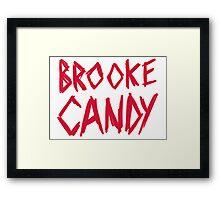 Brooke Candy - Red Brush Logo Framed Print