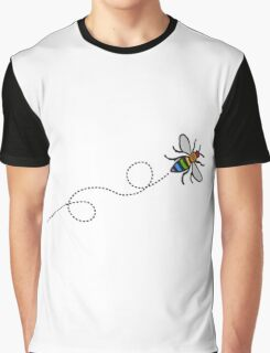 Flying Manchester Bee, Rainbow Edition Graphic T-Shirt