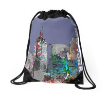 New York  City Graffiti Drawstring Bag