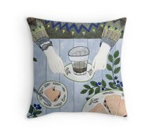 Blueberry Scones Throw Pillow