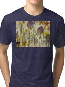 Victorian Meadow closeup Tri-blend T-Shirt