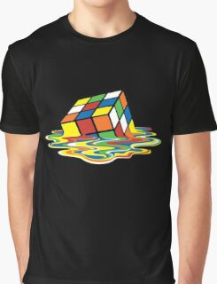 Melting Rubick's Cube - Sheldon Cooper T-Shirts Graphic T-Shirt